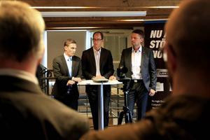 Vid personalinformationen hade vd:n Tobias Sjölander med sig Peter Gullander från Inlandsinnovation och Jörgen Larsson från Swedbank.
