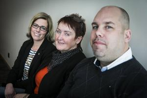 Helena Eriksson, Monica Westberg och Tomas Falkensson, näringslivschef i Sollefteå.