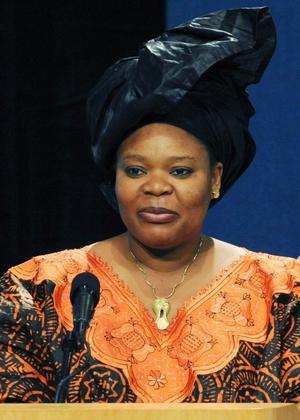 Medborgarrättskämpen Leymah Gbowee.