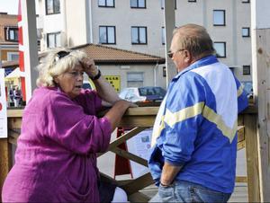 Diskussionens vågor gick höga när Torgny Gradin drabbade samman med Margareta Winberg.