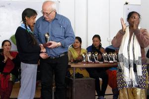 Vilgot Svedman är stolt över sitt livsverk, där tusentals barn i norra Indien har fått hjälp till en utbildning.