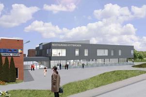 Så här ska den gemensamma matsalen för Atlas Copcos och Seco Tools anställda i Fagersta se ut.
