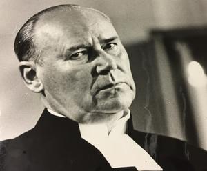 Kyrkoherde Ewald Solberg.