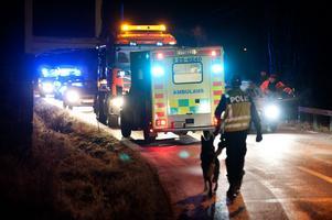 Fyra ambulanser och en lättambulans kallades till olycksplatsen.