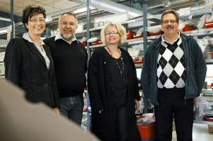 Maritha Lundström, arbetsområdeschef, Harry Etell, hr-resurs, Annelie Lindh, affärskoordinator samt personalledaren Stefan Parviainen ser alla ljust på verksamheten i Ljusnarsberg.