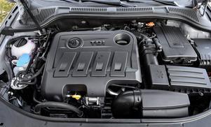 Motorn känns igen från koncernsyskonen Audi, Seat och Volkswagen.