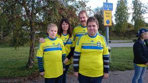 Familjen Zetterström är laddade för att se matchen på Friends Arena.