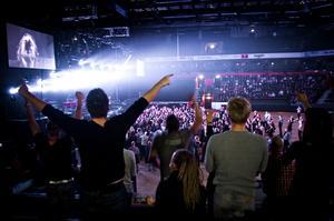 Förslaget är att det byggs en ny flexibel kulturscen inne i Fjällräven Center för uppemot 2 miljoner.