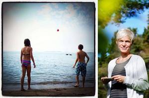 Till vänster är vinnarbilden som är tagen av Jessica Björnwall, till höger.