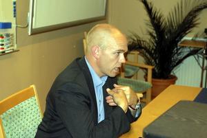 Jan Fahlén, ordförande i IBF Falun som valt att låta en professionell byrå sköta klubbens ekonomi. Foto:Hans Dahl