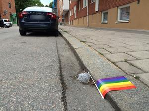 Några dagar efter Prideparaden var de enda Prideflaggorna i sikte de som låg glömda och nedtrampade i rännstenen.