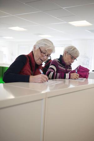 Yvonne Johansson och Ruth Trapp svarar på ordleken.