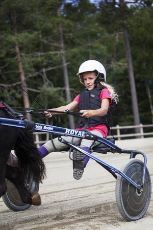 Madelene Olofsson har full fokus mot helgens tävlingar.