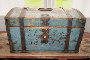 Tjuvarnas byte från Forsa forngård bestod bland annat av två små skrin som dateras till någon gång på 1800-talet.