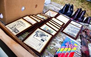 För den som inte orkar arrangera sina egna vintagetavlor så finns de att tillgå i färdigt skick. Foto: Sofie Lind