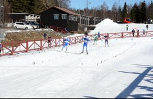 Målgång Lilla Skidspelen på Lugnet 2017