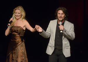 Anna Hanning och Martin Häggström sjöng tillsammans.