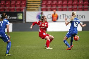 Hanne Gråhns i Kif Örebros senaste match, förlust med 1–4 mot Eskilstuna. Gråhns gjorde Örebros mål i matchen.