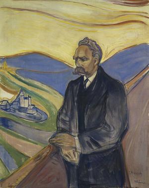 Den tyske filosofen Friedrich Nietzsches idé om övermänniskan har klart inspirerat till Ewers karaktär Frank Braun och dessutom författarens egen självbild.  Porträtt av Edvard Munch från 1906.