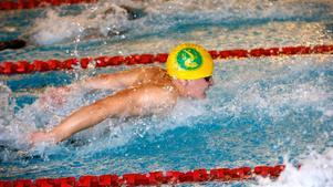 Tobias Westholm, Norrtälje Simklubb, fick till det på 50 meter fjäril under DM-helgen i Norrtälje och satte ett nytt personligt rekord.