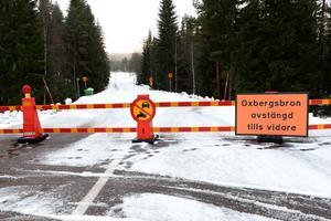 Oxbergsbron är avstängd.