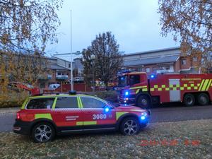 Brandkåren hade inte mindre än elva fordon på plats vid Noretgården
