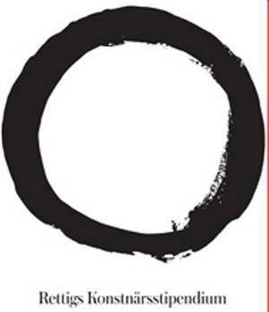 Logotyp för nya Rettigs Konstnärsstipendium som ska delas ut vartannat år. Formgiven av Adam Dahlstedt.