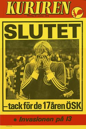 "Grymt ögonblick. Ronald ""Rolle"" Åman deppar då ÖSK åker ur allsvenskan 1978."