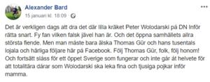Alexander Bard rasar på Facebook på det sätt som endast Alexander Bard kan göra.