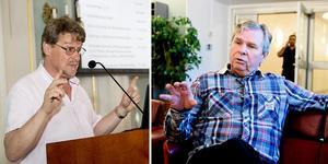 S-toppen Anders Byqvist, till höger, anser det var fel att majoriteten själva valde oppositionsråd. Till vänster Anders Gäfvert (M).