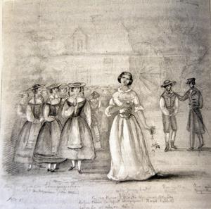 Jenny Lind som Amina i Bellinis opera