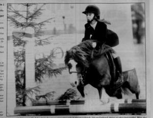 Susanne Källdén, Näsets ridklubb. ST 9 november 1993.