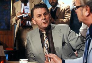 Centerpartiets ledare Thorbjörn Fälldin valnatten 16/9 1979. Efter den blev han åter statsminister. I en borgerlig regering, men i ett vänsterland kan man säga. Foto: Jan Collsiöö / SCANPIX.