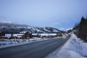 Här vid avfarten mot Såå och reningsverket planeras den östra av/påfarten.
