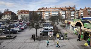 Oxbackens centrum, bilden är från 2015.