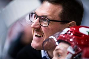 Timrås assisterande tränare Johan Thelin. Bild: Magnus Lejhall/Bildbyrån.