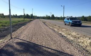 Om några veckor står den nya gång- och cykelvägen klar mellan Matfors och Specksta. Därmed binds Matfors ihop med Sörfors tack vare den nya cykelvägen.
