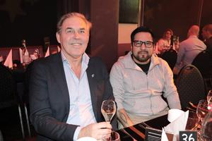 Bengt-Göran Wikström, Wikströms ryggmottagning, och Calle Gustafsson, Platina, såg fram emot en festlig kväll.