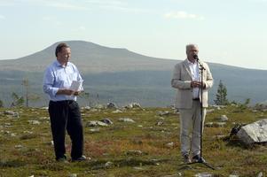 Torbjörn Wallin och Peter Egardt med Städjan i bakgrunden.