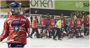 Jocke Svensk var inblandad i en otäck scen då han knockades under ett Bollnäsanfall. Men på onsdagen så gav Edsbyns libero lugnande besked.