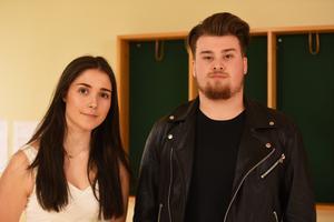 Emma Edström, dansestet, och William Eriksson, musikestet, såg fram emot musikalens premiär.
