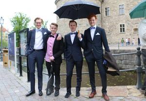 Arvid Jansson, Jacob Palmkvist, Eric Lundholm och Simon Eriksson.