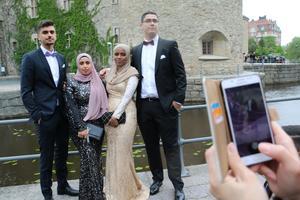 Dana Amir, Layan Bilal, Halima Abdifatah och Rishwan Ali.
