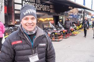 Andreas Ljungberg, skoterhandlare från Sveg, var nöjd med dagen.