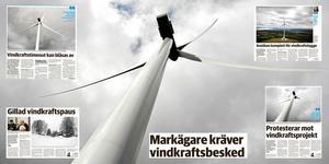 Starka viljor kantar de många turerna kring de planerade vindkraftsetableringarna i kommunen.