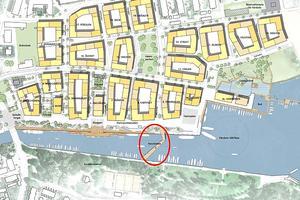 Havslänken blir som en förlängning av Hamnvägen. Den beräknas vara klar till våren/sommaren 2020. Bild: Norrtälje kommun