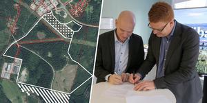 På måndagsförmiddagen undertecknade Jan Fahlén, utvecklingschef vid EcoDC, och kommunalrådet Fredrik Rönning (S) den avsiktsförklaring som kan leda till att ett stort datacenter etableras på Röbacken i Smedjebacken.