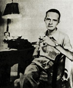 Cornell Woolrich  (1903–1968) var en av de stora amerikanska thrillerförfattarna. Efter att hans första roman publicerades 1926 flyttade han till Hollywood för att bli manusförfattare.