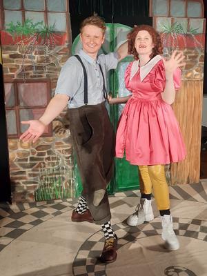 De fantastiska skådespelarna Oskar Webrell och Matilda Bördin