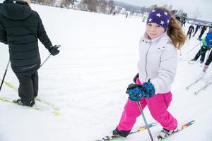 Ella Hermansson åker i vanliga fall slalom men gillar ändå